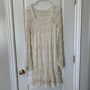 Cream Lacey Dress